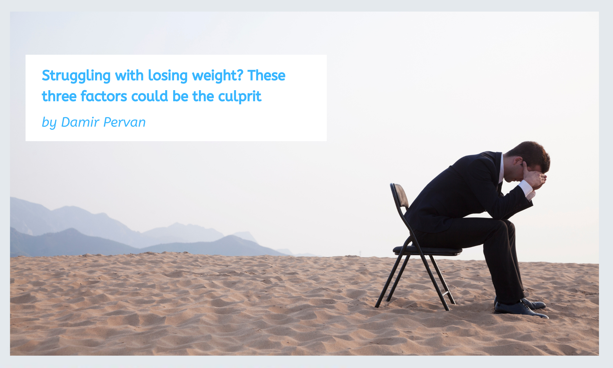 Struggling with losing weight These three factors could be the culprit